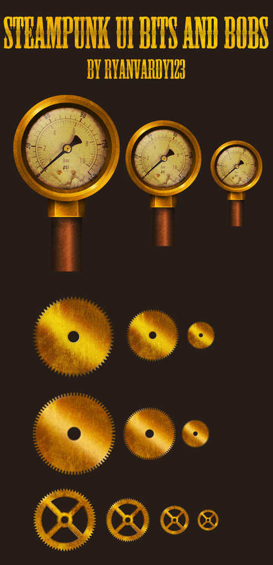 Steampunk Clock Vector Steampunk Clock Calendar