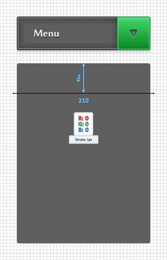 Adobe Illustrator Tutorial: Create a Simple Drop-Down Menu