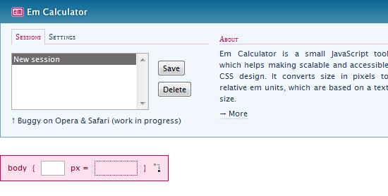 Em Calculator