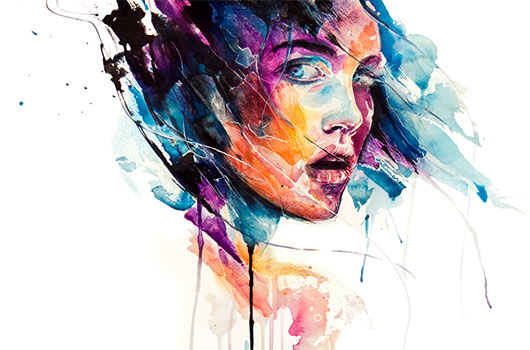 Runny Paints Modern Watercolor Portraits