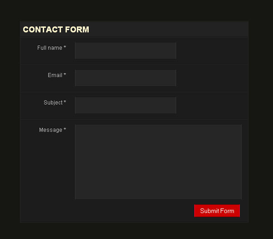 Create a simple CSS form