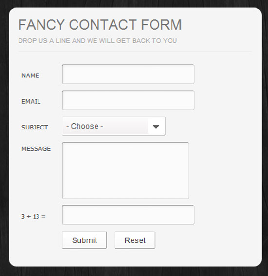 Fancy AJAX Contact Form