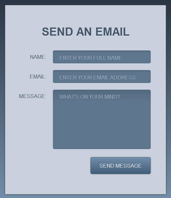 A simple and stylish HTML5 and CSS3 contact form