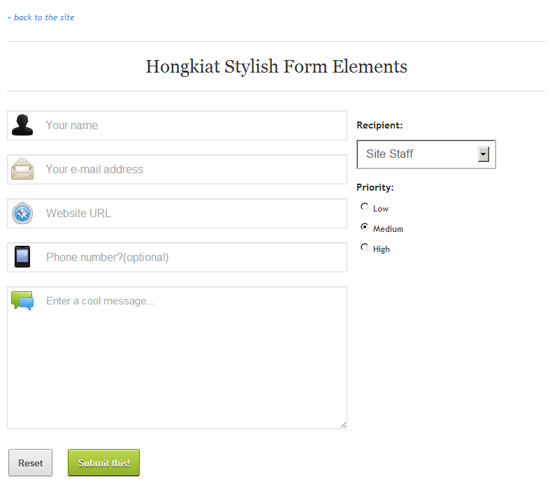 Stylish Responsive Form With CSS3 And HTML5
