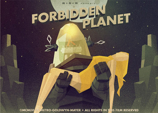 Forbidden Planet by Justin Mezzell