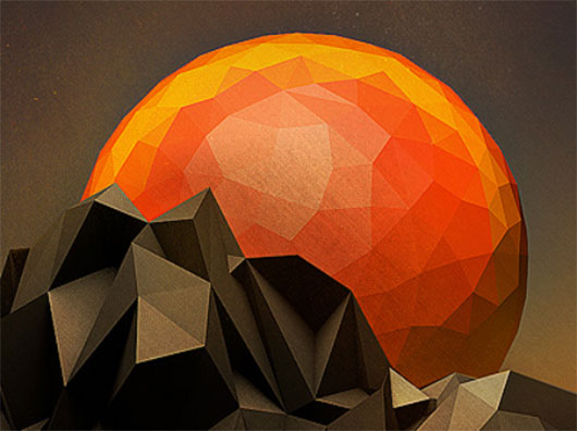 Low-Poly Sun Set by Jeremiah Shaw