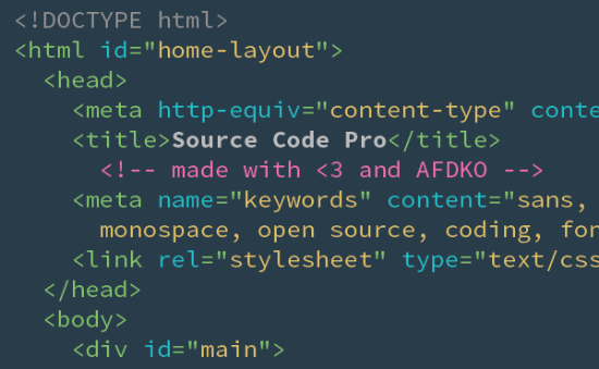 Source Code Pro: Adobe's Second Open Source Font Just Released