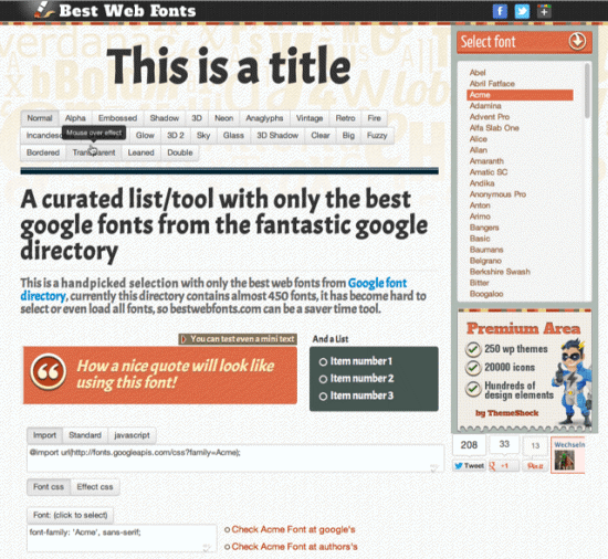 Best Web Fonts – Implement Google Web Fonts Most Easily
