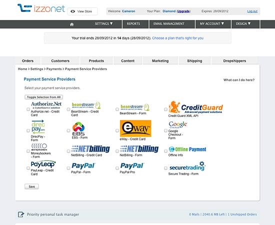 IzzoNet payments