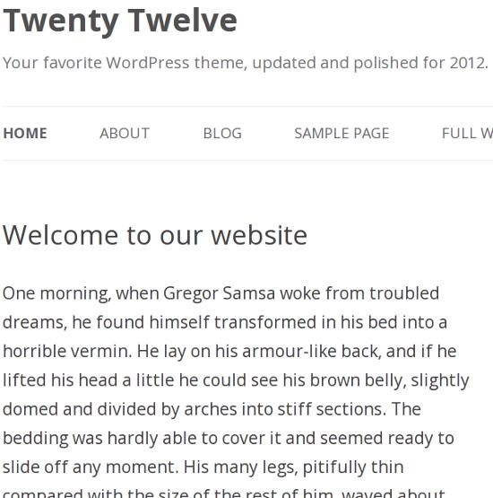 Open Sans Typeface in Twenty Twelve