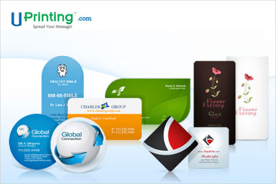 Online business card printing at UPrinting