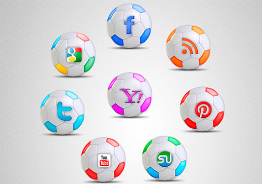 Football Social Icon Set
