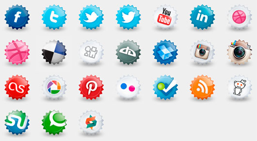 Set of social icons by Lenka Melcakova