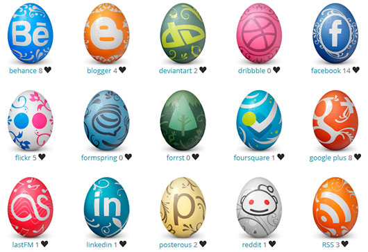 Social Network Easter Eggs