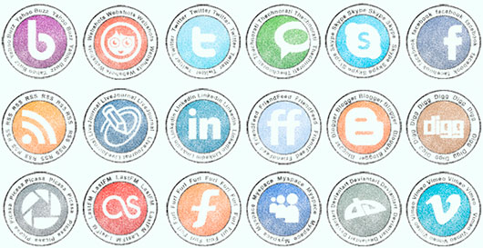 Stamp Social Network Icon