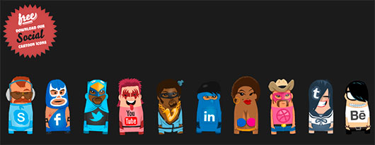 Themartist Character Social Icons