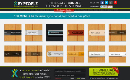 ByPeople: Download Your Free 5GB Bundle Of Templates, Icons, Logos, Banners, Backgrounds And More Today