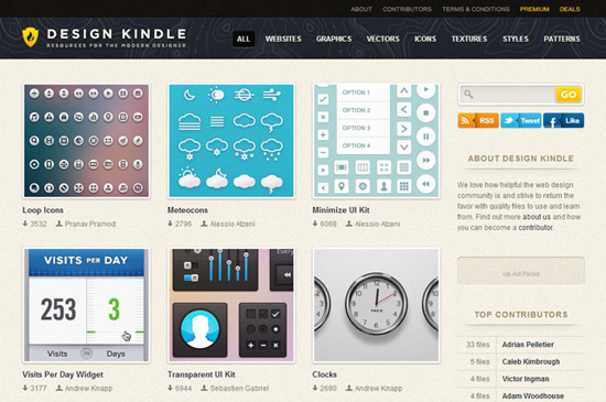 Design Kindle: New Resource For Web Designers Offers Icons, Textures, UIs And More For Free