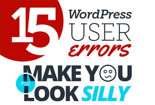 15 WordPress User Errors