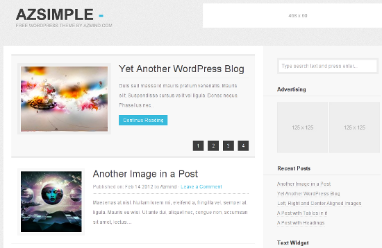 Best of 2012 50 free wordpress themes noupe for Word press blog templates