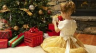 Child at Christmas Tree