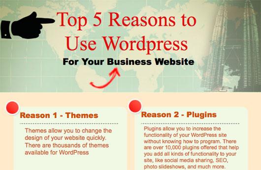 Top 5 Reasons to use WordPress