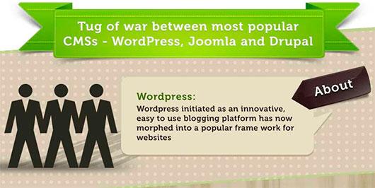 Tug of War Between: WordPress, Joomla and Drupal