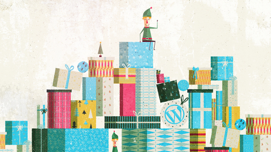 WordPress.com Christmas Holiday Blue