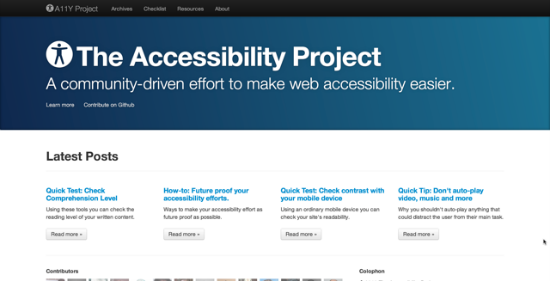 The Accessibility Project – How To Integrate Accessibility Into Your Daily Designs