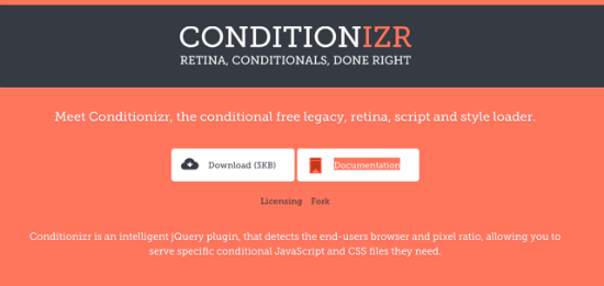 Conditionizr for jQuery – Conditional Loader For Scripts And Styles