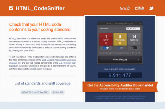 Tear Down This Wall: HTML_CodeSniffer Checks Websites For Accessibility