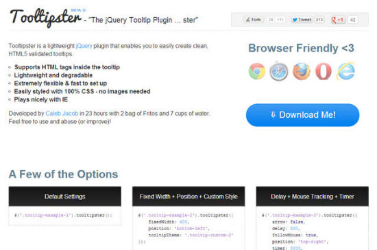 HTML5: Trendy Tooltips with Tooltipster for jQuery