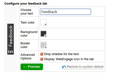 WebEngage: Feedback Form In The Making