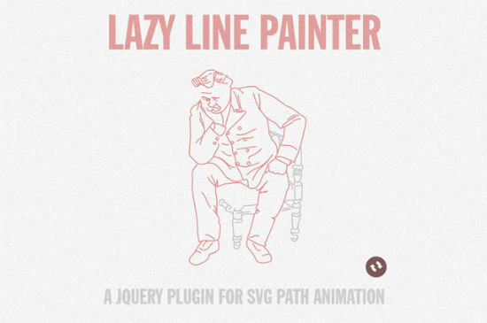 Lazy Line Painter for jQuery Animates SVG Onto Your Website