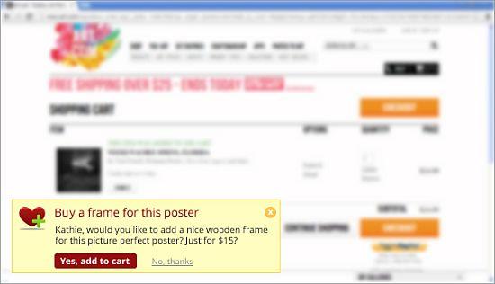 WebEngage: Targeted Notification Based On Product Chosen