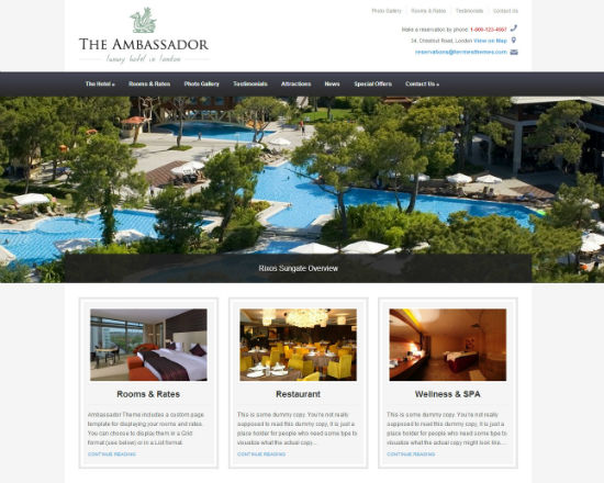 The Ambassador, Noupe's Easter Gift To You: A Premium WordPress Theme For Free