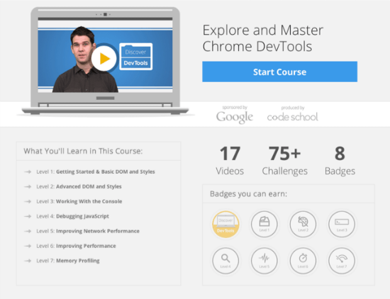 Mandatory for Web Developers: Free Video Tutorials on Chrome DevTools by Code School