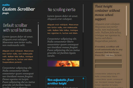 jQuery Custom Content Scroller Does Away With Ugly Scrollbars