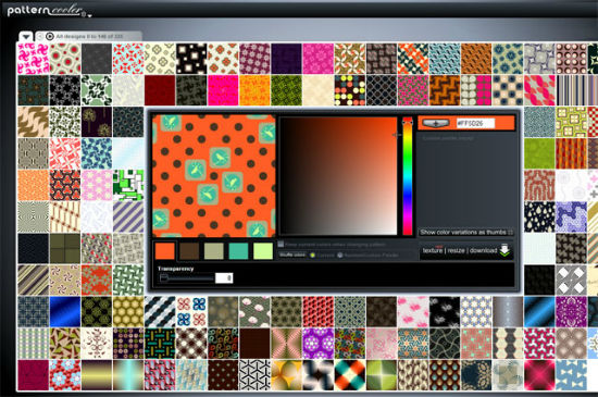 Down with Boredom: 5 Pattern Generators for Background Designs