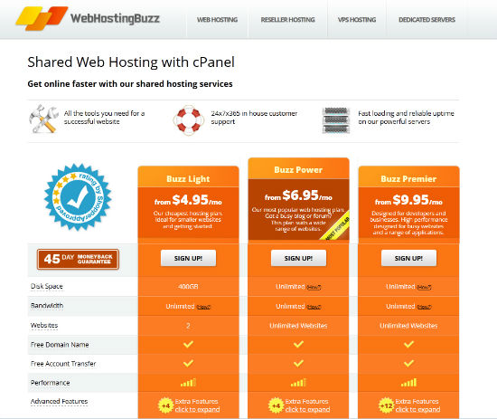 WebHostingBuzz | Shared Hosting Packages