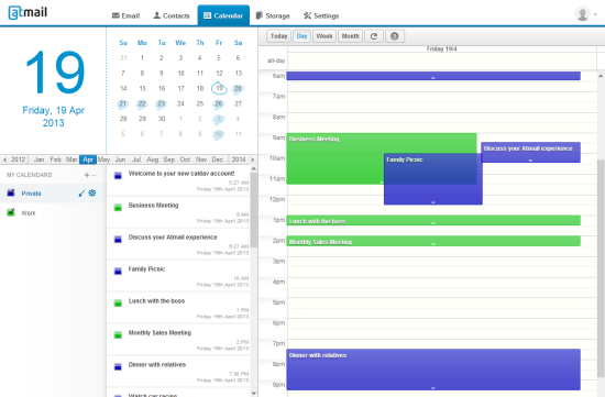 Atmail Cloud | Calendar
