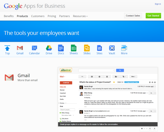Google Apps for Business | One of the Competitors