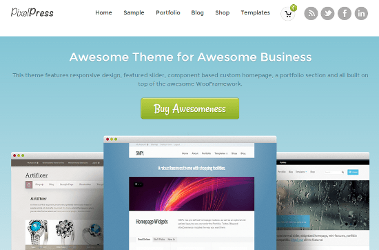 PixelPress by WooThemes -- Now Available at ThemeForest