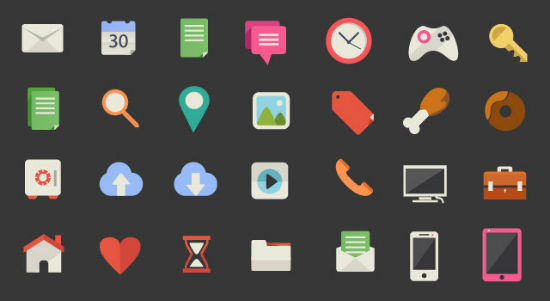 Exclusive Freebie for Noupe's Readers: Freepik's 200 Beautiful Flat Icons