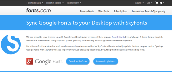 SkyFonts: The Best Way to Use Google Fonts on Your Desktop