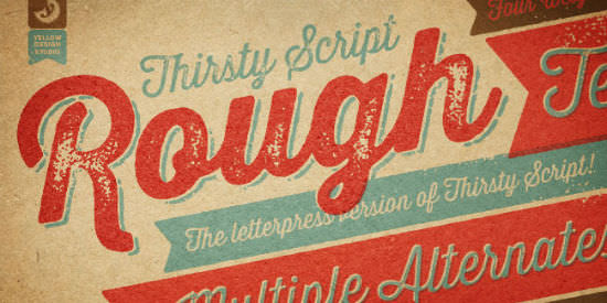 Imperative: Mighty Deals Bargains Away Thirsty Rough Font Family for 9 Dollars