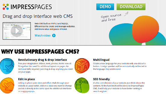 ImpressPages CMS: Drag and Drop All the Way!