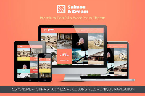 Salmon & Cream: Fully Responsive WordPress Premium Theme with a Flat Design (Giveaway)