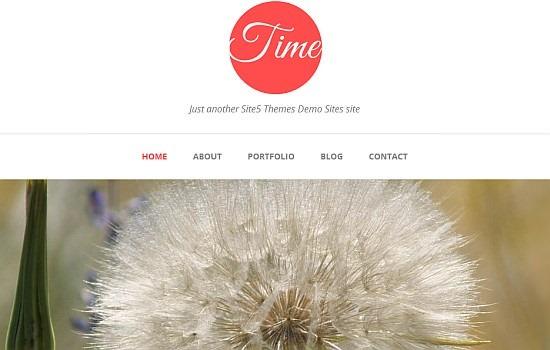A clean responsive theme