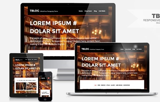 TBLOG: Responsive WordPress theme